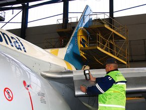 Experience of ULTRASONIC testing of Boeing 737 -300, -400, -500 planes structure elements in operating conditions