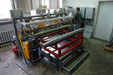 SNK OS-3 automated non-destructive rail axles testing system during their production